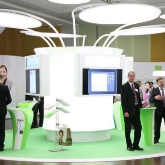 Die futuristisch anmutende Fachausstellung