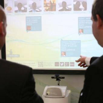 Die Timeline mit virtuellen Kongress-Kommentaren