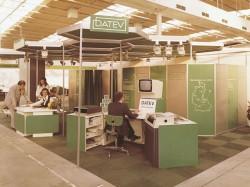 DATEV-Stand 1974: Die erste Teilnahme von DATEV
