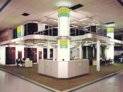 DATEV-Stand 1980: Zweigeschossiger Stand