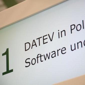 Der DATEV in Polen-Stand auf der CeBIT
